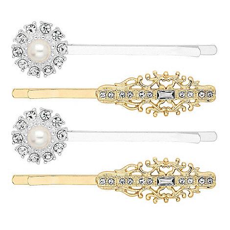 The collection set of four decorative hair slides debenhams - Decorative hair slides ...