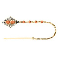 The Collection - Decorative coral hair charm slide