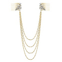 The Collection - Statement crystal double hair chain