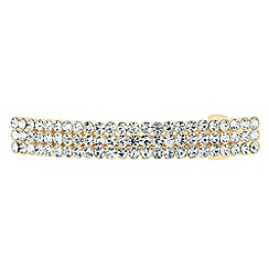 The Collection - Gold crystal embellished hair barrette
