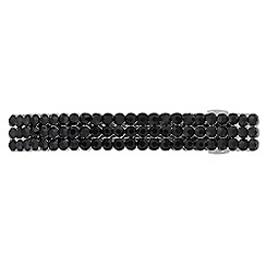 The Collection - Black crystal embellished hair barrette