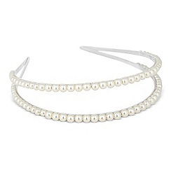 The Collection - Double row pearl embellished headband