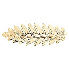 The Collection - Textured gold leaf hair slide