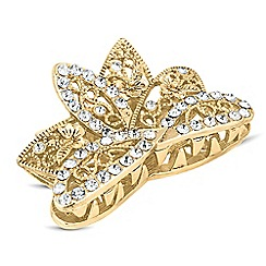 The Collection - Crystal embellished crown hair clamp