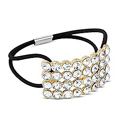 The Collection - Crystal embellished bar hair tie