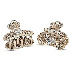 The Collection - Set of two mini crystal encased hair clamps