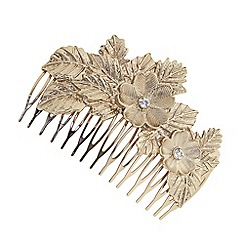 The Collection - Gold flower hair comb