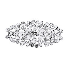 The Collection - Silver crystal cluster hair clip