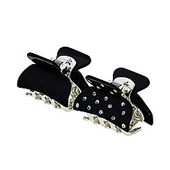 The Collection - Pack of two black crystal hair clamps