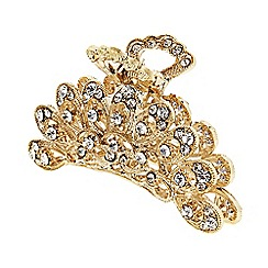 The Collection - Gold ornate crystal hair clamp