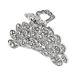 The Collection - Silver ornate crystal hair clamp