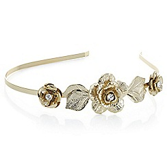 The Collection - Gold crystal floral head band