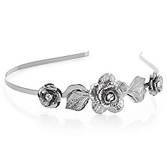 The Collection - Silver crystal floral head band