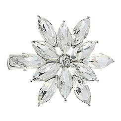 The Collection - Silver crystal flower hair clip