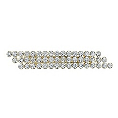 The Collection - Gold crystal slanted hair clip
