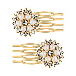 The Collection - Pearl hair comb set