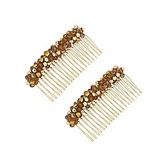 The Collection - Beaded hair comb set