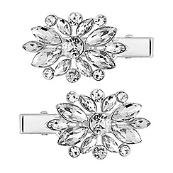 The Collection - Silver crystal hair clip set