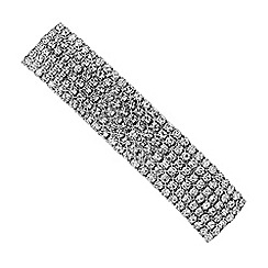 The Collection - Silver crystal diamante hair clip