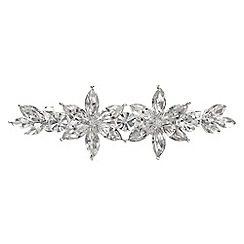 The Collection - Crystal floral hair clip
