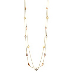The Collection - Long mixed bead necklace