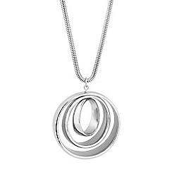 The Collection - Long circular triple drop necklace