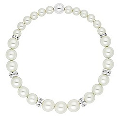 The Collection - Cream pearl and silver rondel necklace