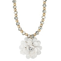 The Collection - Statement cream shell flower necklace