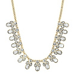 The Collection - Mixed crystal peardrop cluster necklace