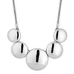 The Collection - Polished silver five disc necklace