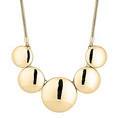 The Collection - Polished gold five disc necklace