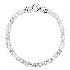 The Collection - Statement polished mesh flat chain necklace
