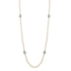 The Collection - Cream pearl and polished ball necklace
