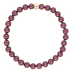 The Collection - Purple pearl effect magnetic necklace