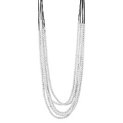 The Collection - Polished mini ball bead multi row necklace