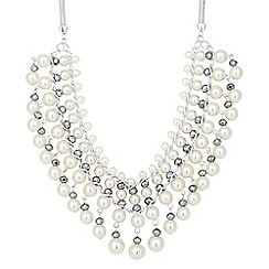 The Collection - Pearl and facet bead tassel drop necklace