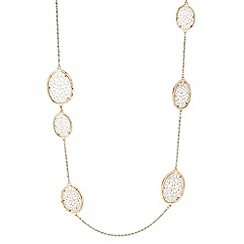 The Collection - Two tone filigree link long necklace