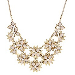 The Collection - Pink flower statement necklace
