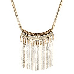 The Collection - Beaded chain tassel statement necklace