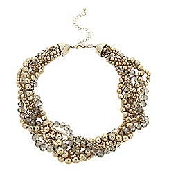 The Collection - Beaded multi row plaited necklace