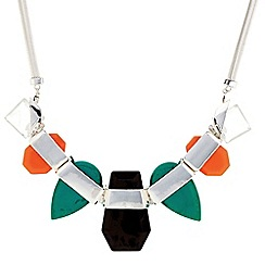 The Collection - Polished geometric statement necklace