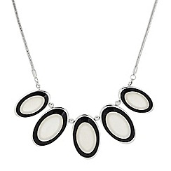 The Collection - Mother of pearl and onyx necklace