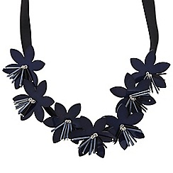 The Collection - 3d beaded multi flower necklace