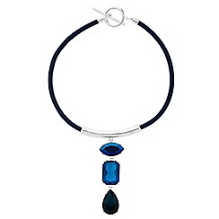 The Collection - Blue crystal torque necklace