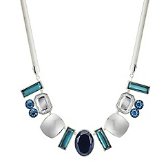 The Collection - Polished silver and mixed stone allway necklace