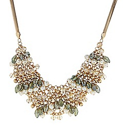 The Collection - Bead and pearl crystal shaker statement necklace