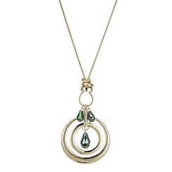 The Collection - Gold circle bead charm long necklace