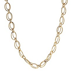 The Collection - Gold double ring link chain necklace