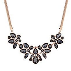 The Collection - Rose gold crystal cluster statement necklace