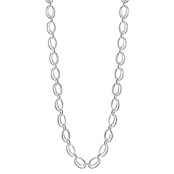 The Collection - Silver double link long chain necklace